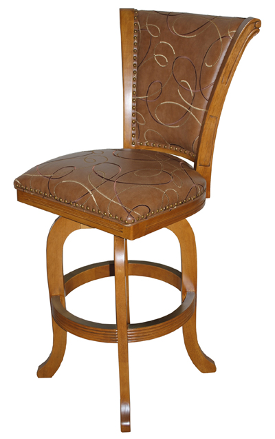 Solid Wood Swivel Stool