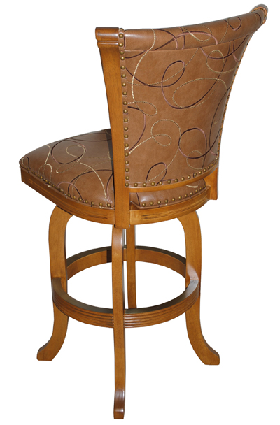 Solid Wood Swivel Stool image 2