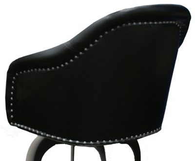 Wood Base, Upholstered seat with Nail Head Design image 2
