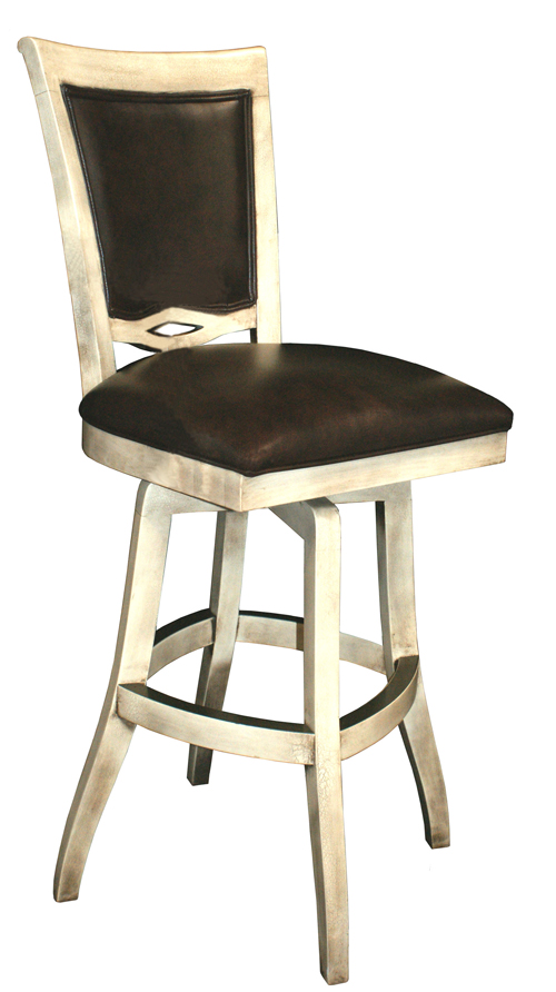 Solid Wood Swivel Counter Stool