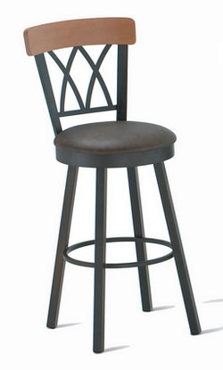 Memorey swivel counter stool with double cross backrest