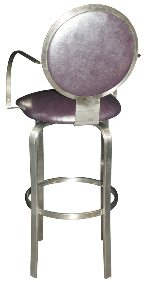 Swivel Stainless Steel Barstool image 2