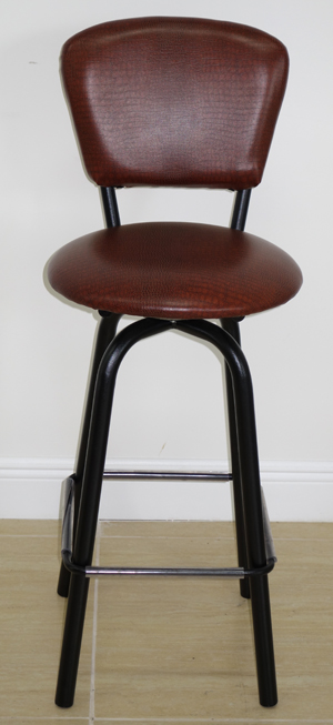 Swivel Stool With Padded Back