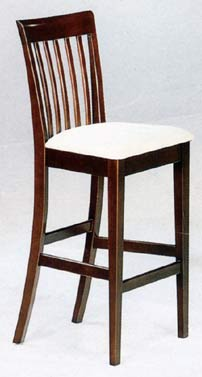 Wooden Kitchen Chair with Cushioned Seat
