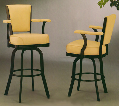Modern Style, Swivel Stool with Arms and High Back