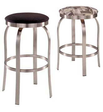 Backless Stainless Steel Swivel Stool