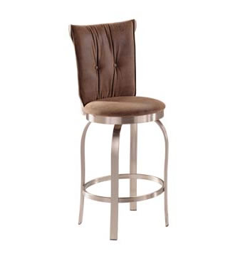 Armless Padded Stainless Bar Stool, Commercial Quality